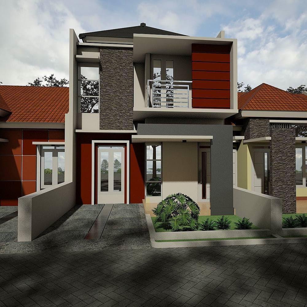 Desain Rumah Minimalis 2 Lantai Dengan Warna Cat Abu Abu Dan Cokelat Ditambah Taman Minimalis Rumah Minimalis Desain Rumah Home Fashion