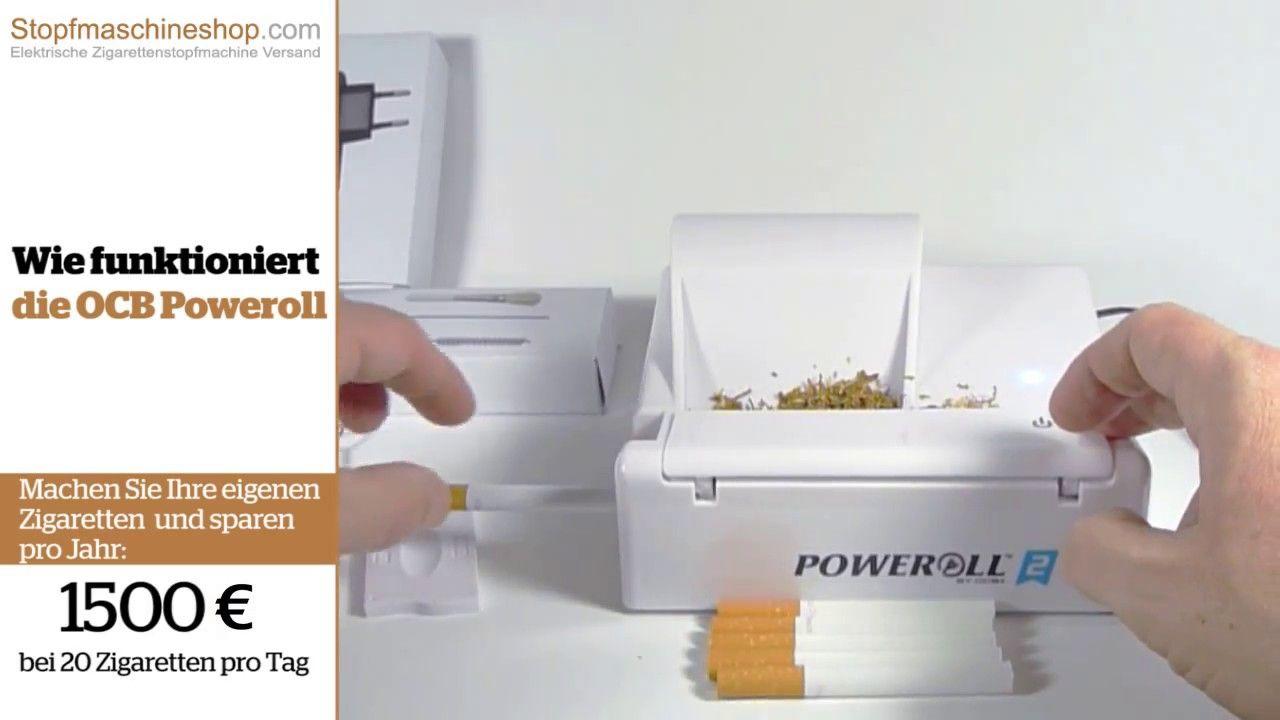 OCB Poweroll 2 Elektrische Stopfmaschine video demo von ...