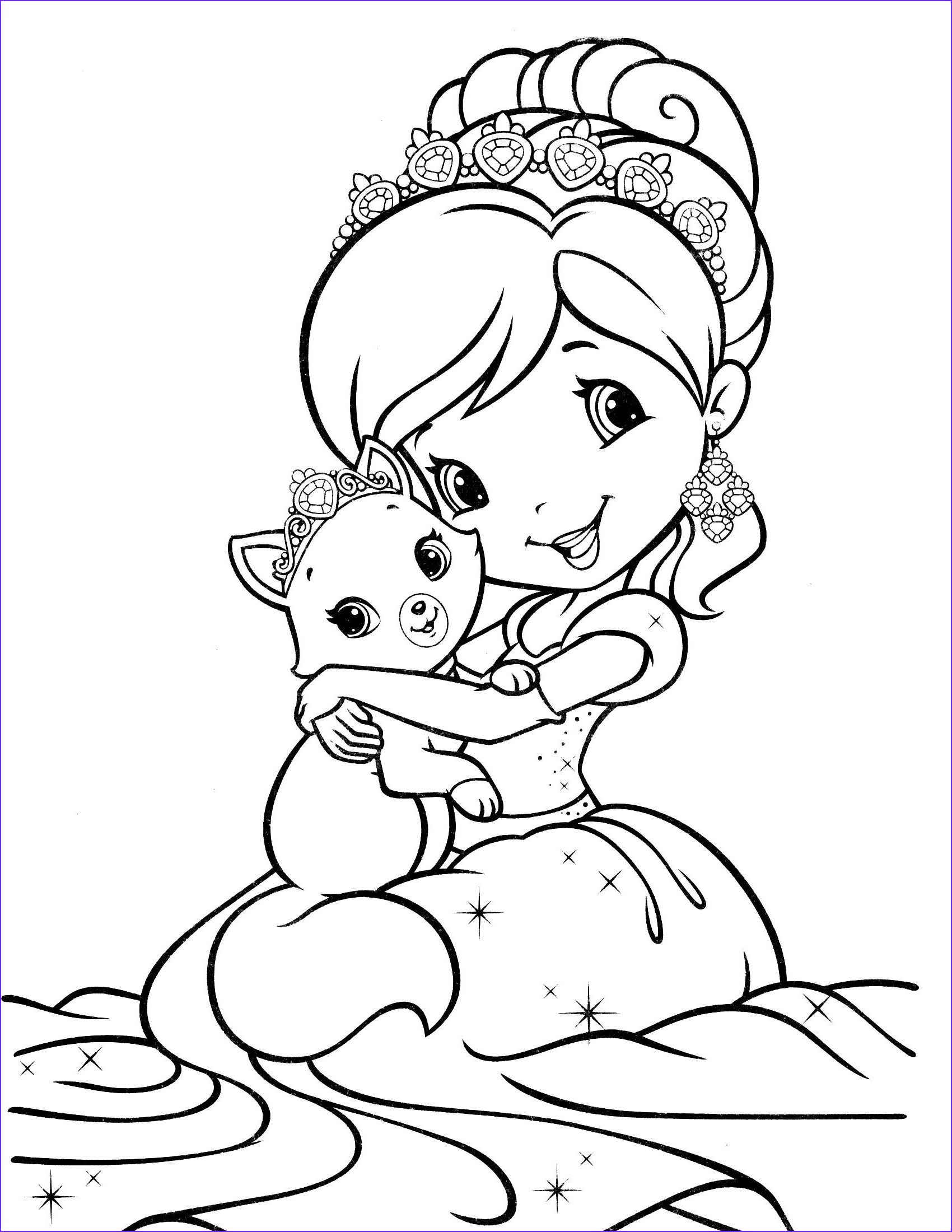 13 Best Of Strawberry Shortcake Coloring Page Collection