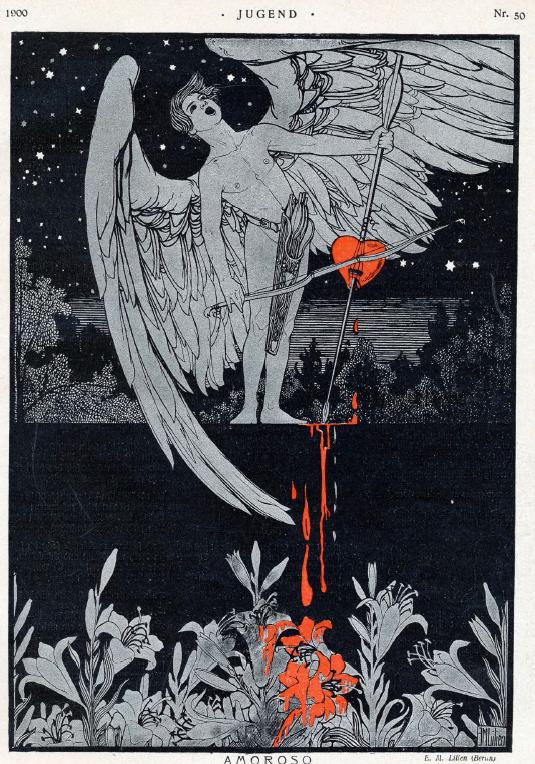 Ephraim Moses Lilien, Amoroso, Jugend Magazine, 1900 no. 50