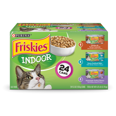 Friskies Indoor Adult Wet Cat Food Variety Pack 24 5 5 Oz