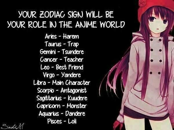 All Of The Dere Types Google Search Anime Horoscope Anime