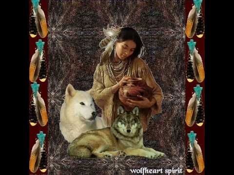 Native American Theme Art Print 10x8 In WOLF WARRIOR