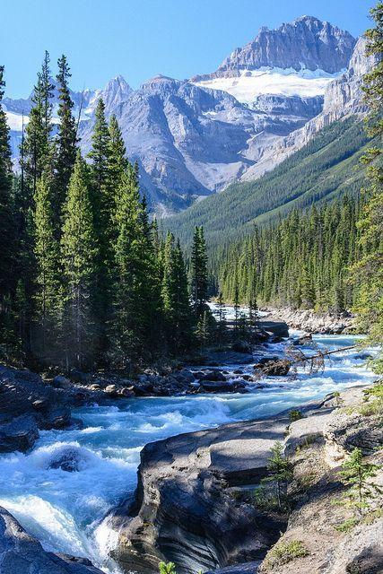 DSC_2218 Mystia River, Banff National Park, Alberta Canyon - #Alberta #Banff #Canyon #DSC2218 #mountains #Mystia #National #Park #River #photosofnature