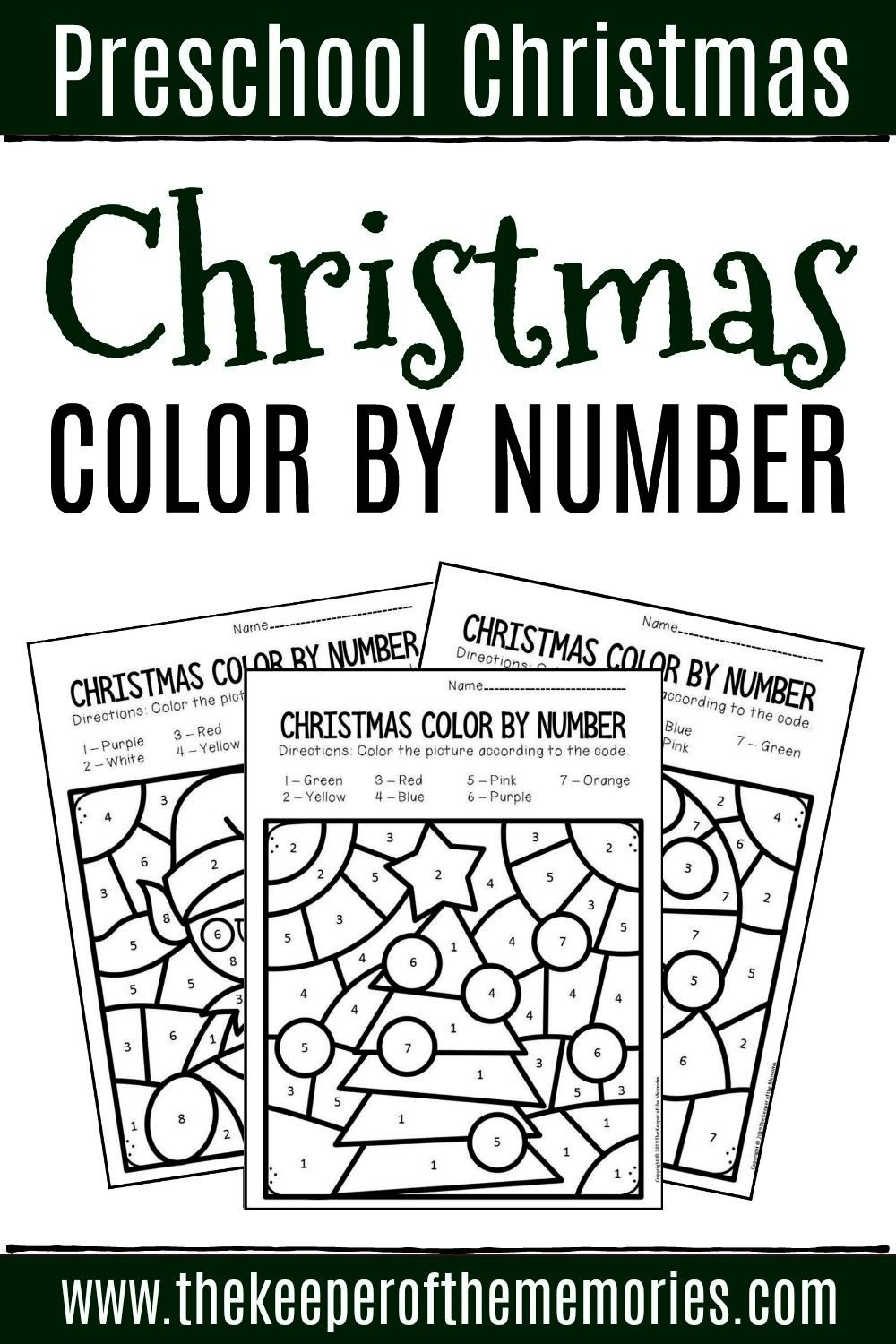 by Number Christmas Preschool Worksheets If you're looking for a quick & easy way to practice num