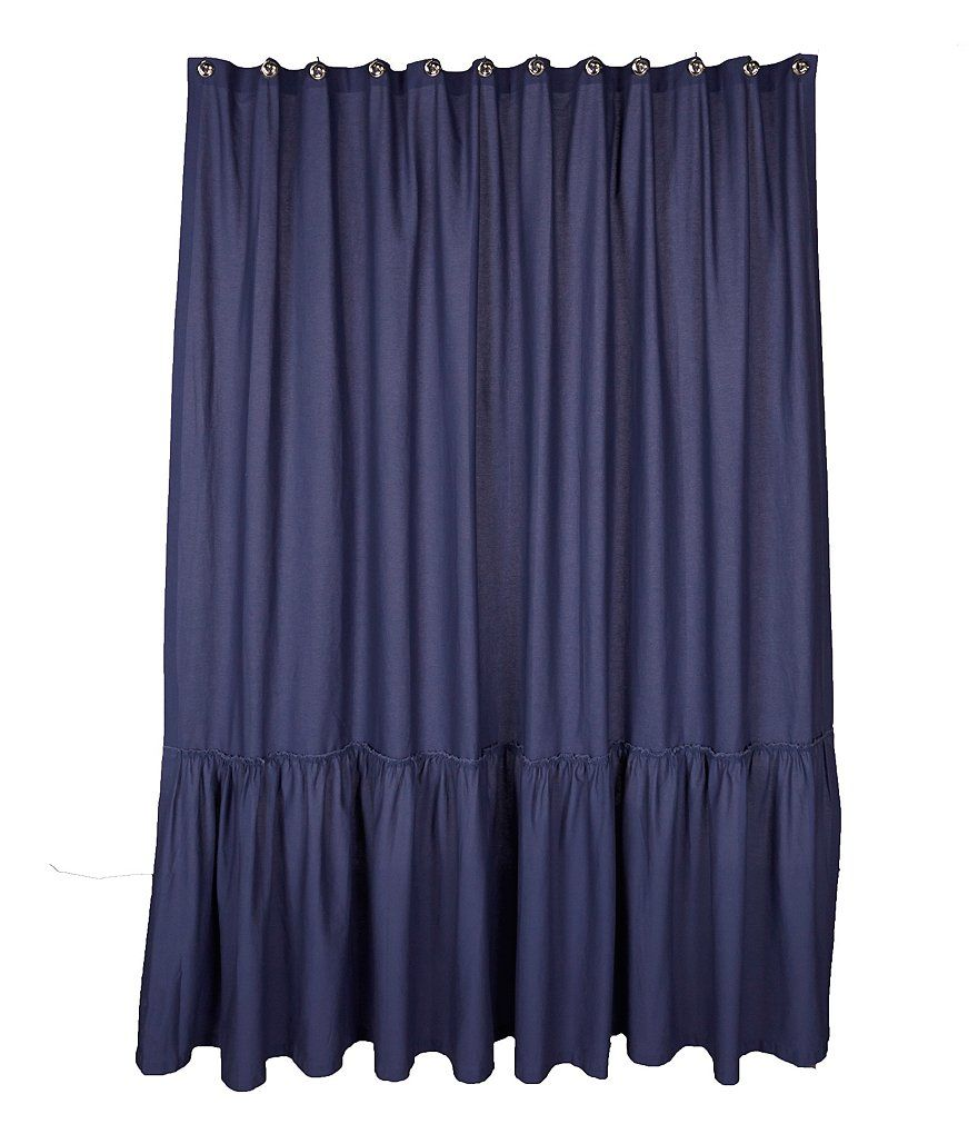 Navy:Studio D Posh Ruffled Shower Curtain | village center ...