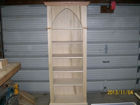 Gothic Bookcase by ftcwoodworks on Etsy