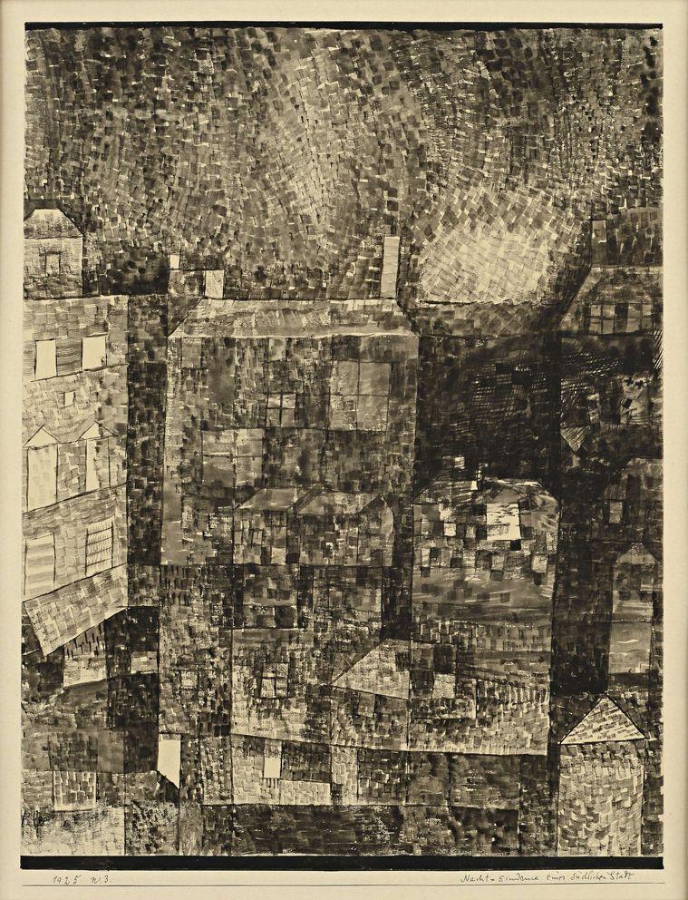 Paul Klee - Nacht; Eindruck einer Südlichen Stadt, 1925