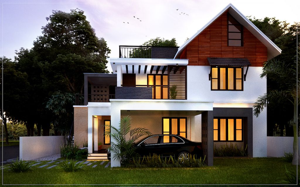 4 Bedroom House Plans Kerala Style Architect In 2020 Kerala