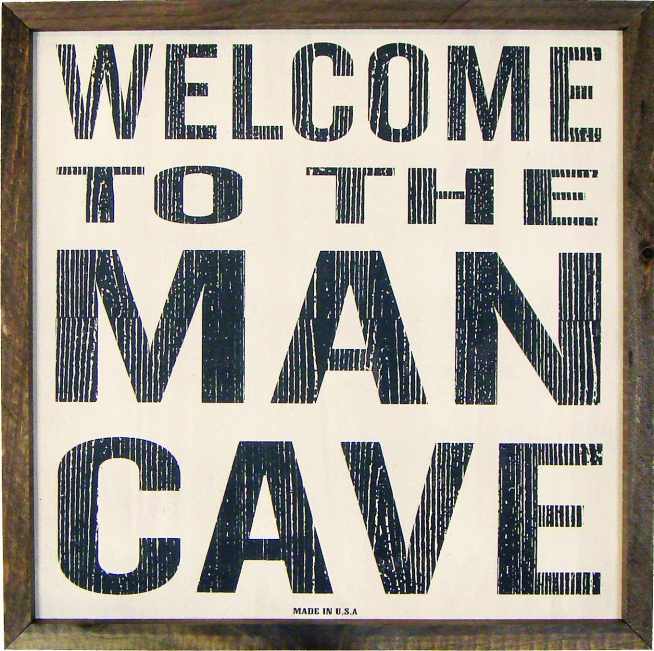 Man Cave Market : Country marketplace welcome to the man cave sign