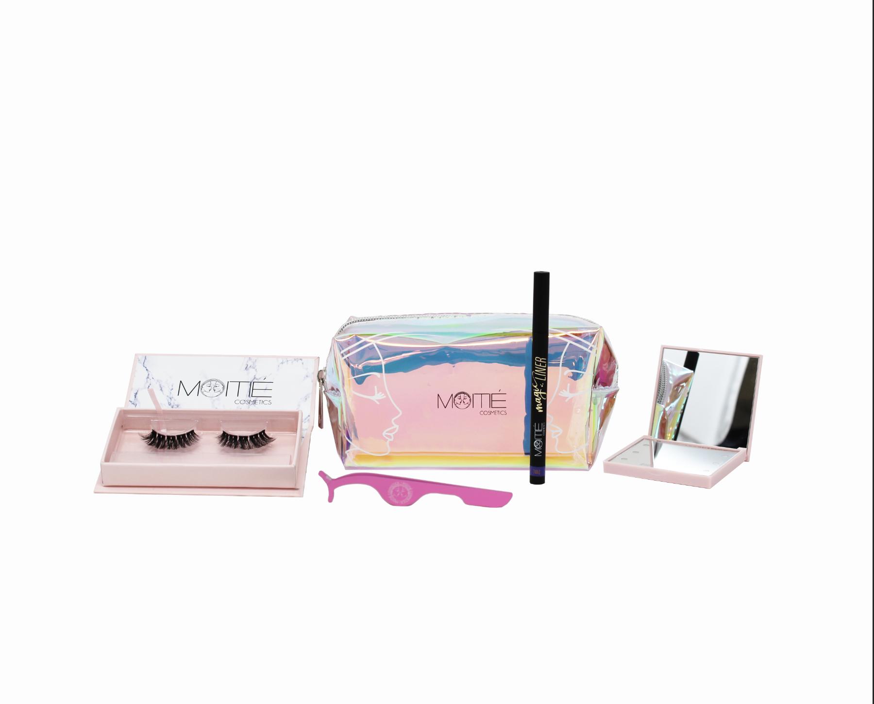 Travel Ready Kit – Spiegel in Natur / Gelb / Pink