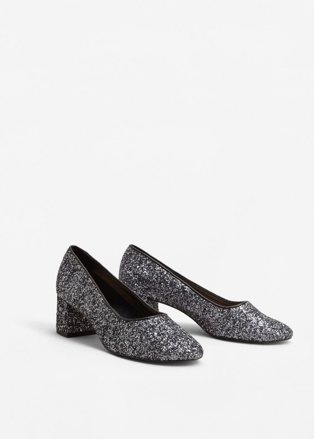Pantofi Cu Toc Sclipici Femei Shoes Pinterest Shoes