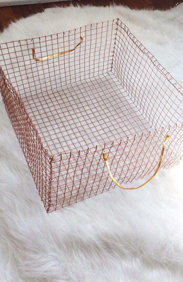 DIY copper wire basket | Crafty Witch | Pinterest | Wire basket ...