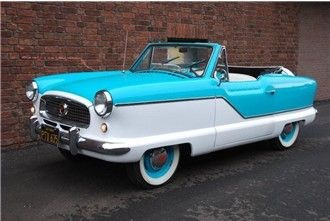 1960 Nash Metropolitan convertible. I had the 1958 hardtop version! Loved that c…