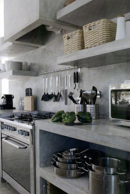 Pin De Adriana Campos Duran En Cemento Pulido En 2020 Cocinas De