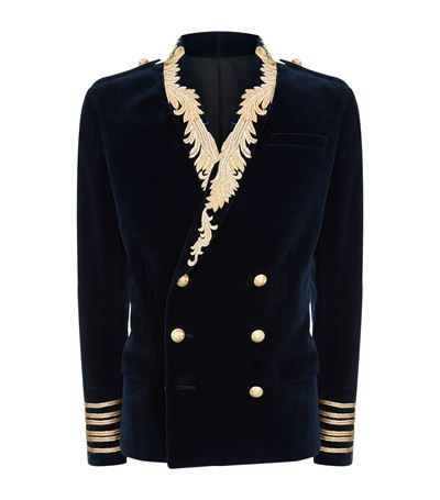 80694e280c0b BALMAIN Gold Leaf Velvet Blazer.  balmain  cloth
