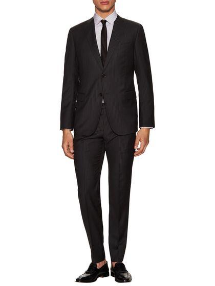 Armani Collezioni Striped Notch Lapel Suit