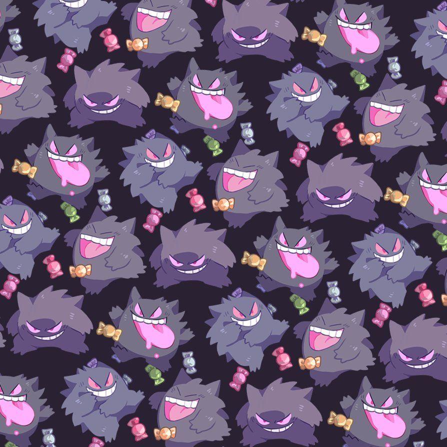 Gengar Pattern By Andcetera Cute Pokemon Wallpaper Gengar Pokemon Gengar