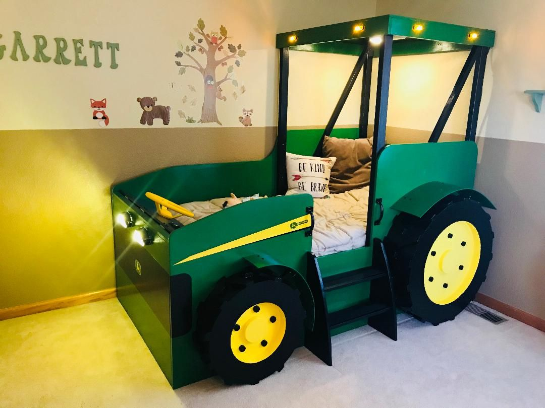Twin Size Tractor Bed Plans Plans Only Create A Farm Themed