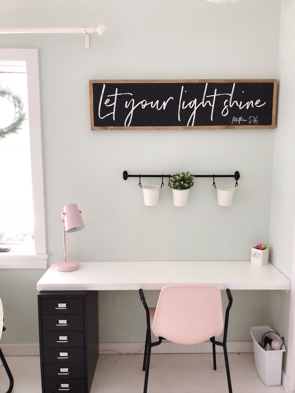 Let your light shine | 4'x1' Wood Sign images