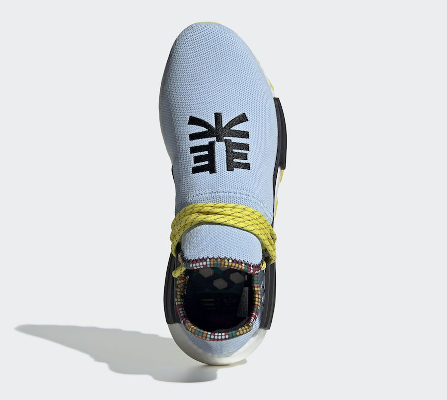 big sale 7932e be299 Pharrell adidas NMD Hu Clear Sky Blue EE7581 Inspiration Pack Release Date