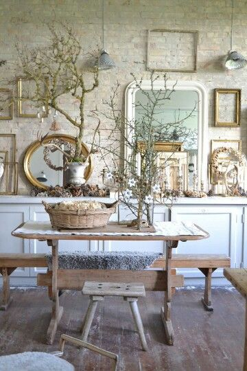 Photo of French Country Elements in the Dining Room