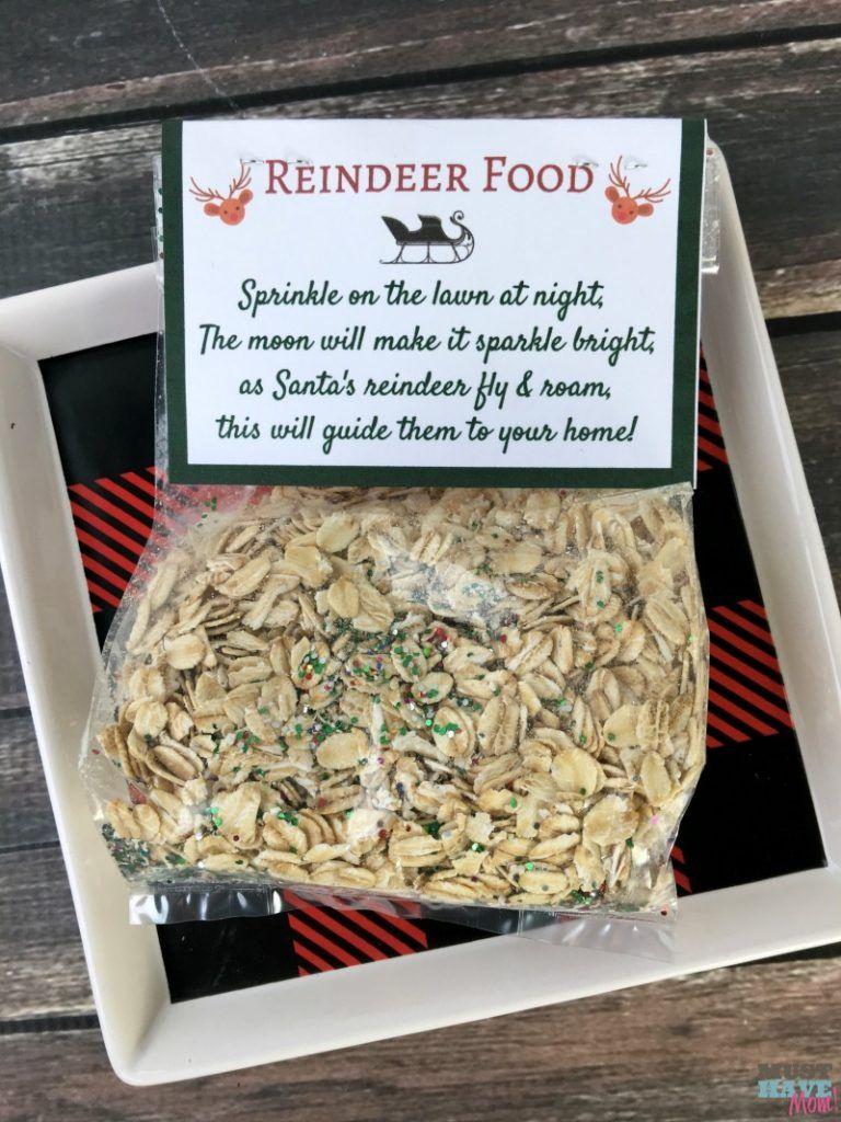 Santas magic reindeer food with free printable bag topper poem forumfinder Gallery
