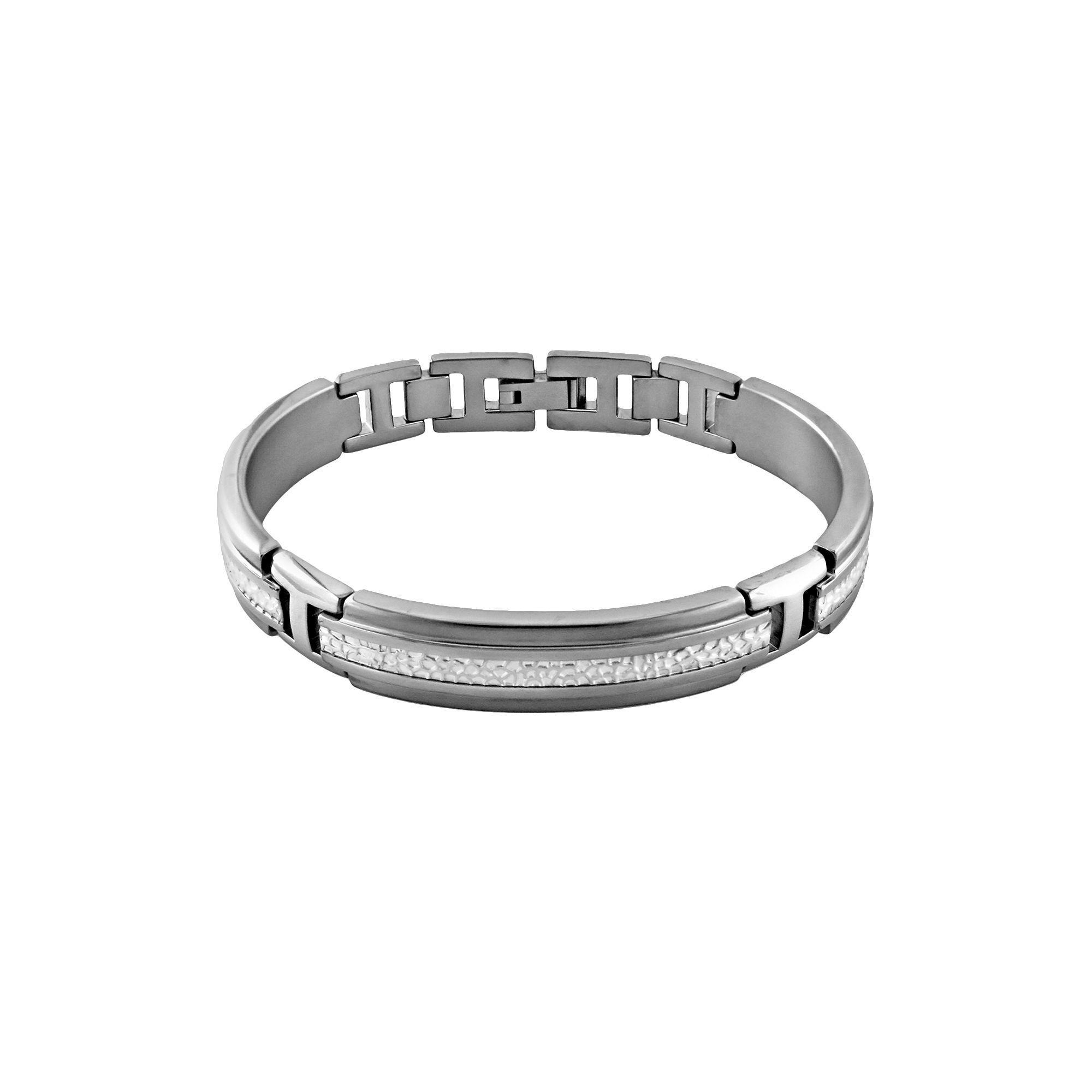 Sti by spectore sti by spectore titanium u sterling silver bracelet