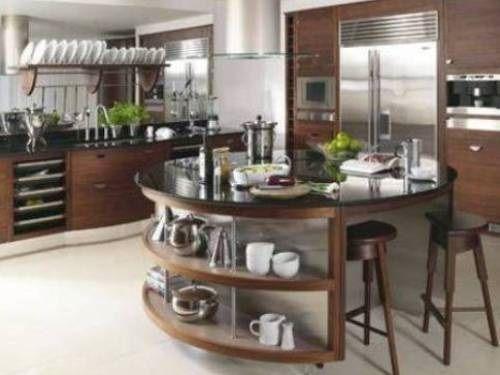 Modern round kitchen island interesting ideas kitchen decorating ideas and designs in 2018 for Round kitchen island designs