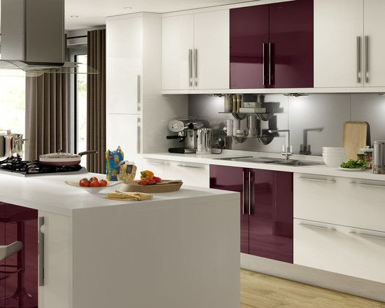 Kitchen Island Accessories contemporary aubergine kitchen accessories with white kitchen