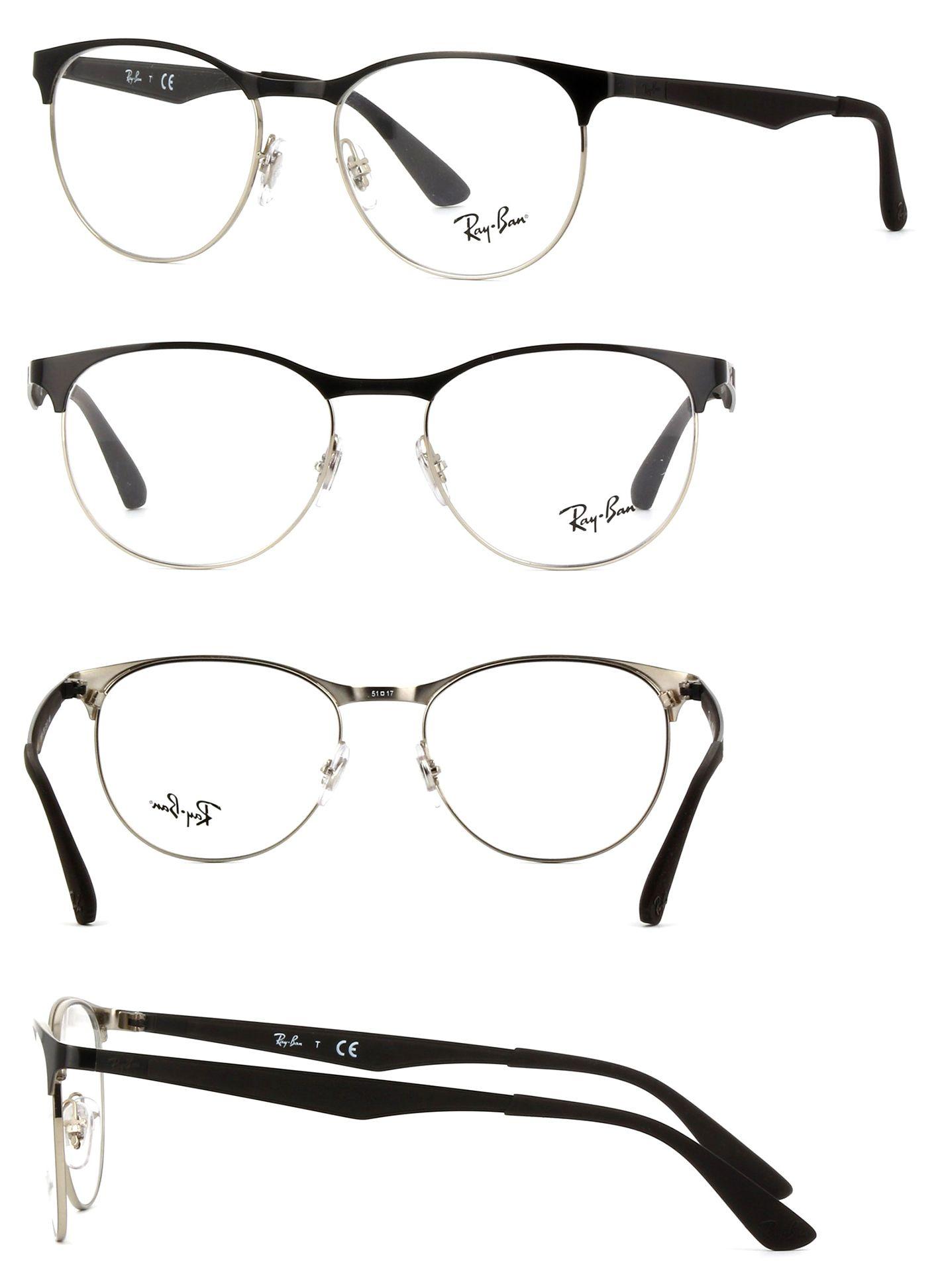 0d220d39961 Eyeglass Frames  New Authentic Ray Ban Eyeglasses Rb6365 2861 Silver Black  51-17-