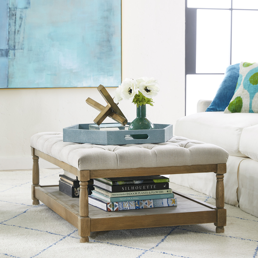 Mid-Size Button Tufted Coffee Table