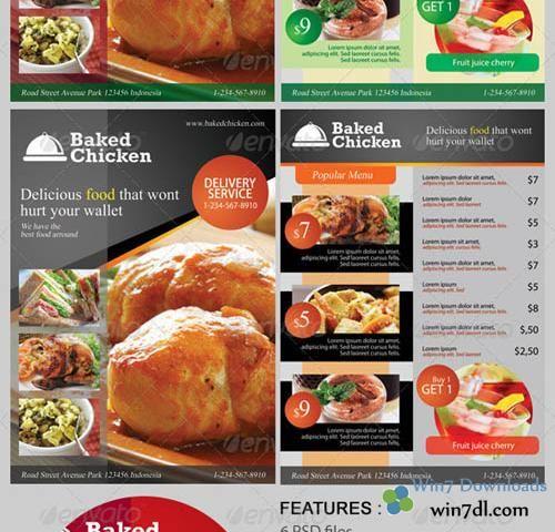 Graphicriver Modern Restaurant Food Menu Flyer Template  Food