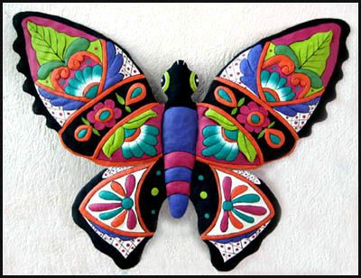 Butterfly wall art painted metal butterfly wall hanging 19