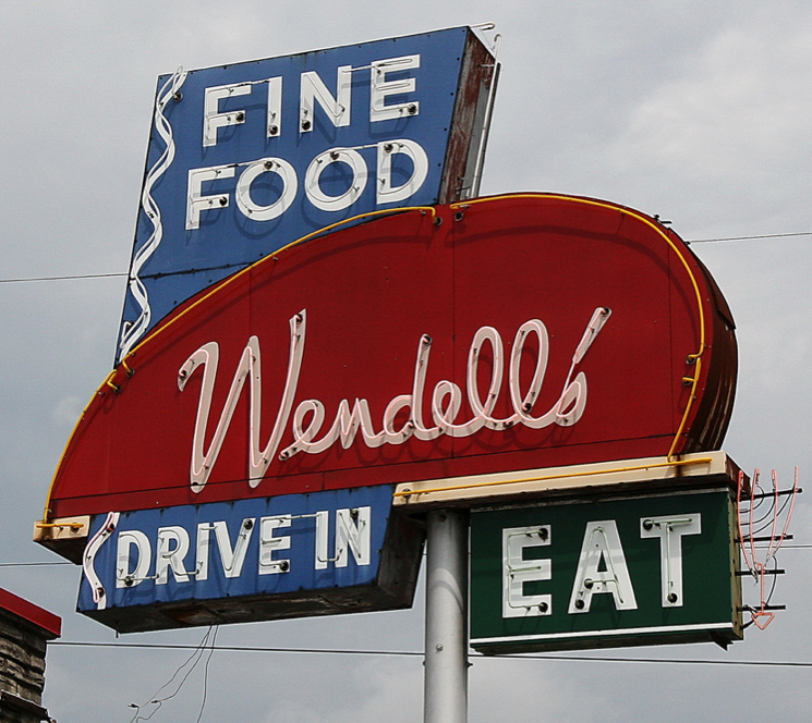 Wendell's DriveIn Nashville TN Retro sign, Vintage