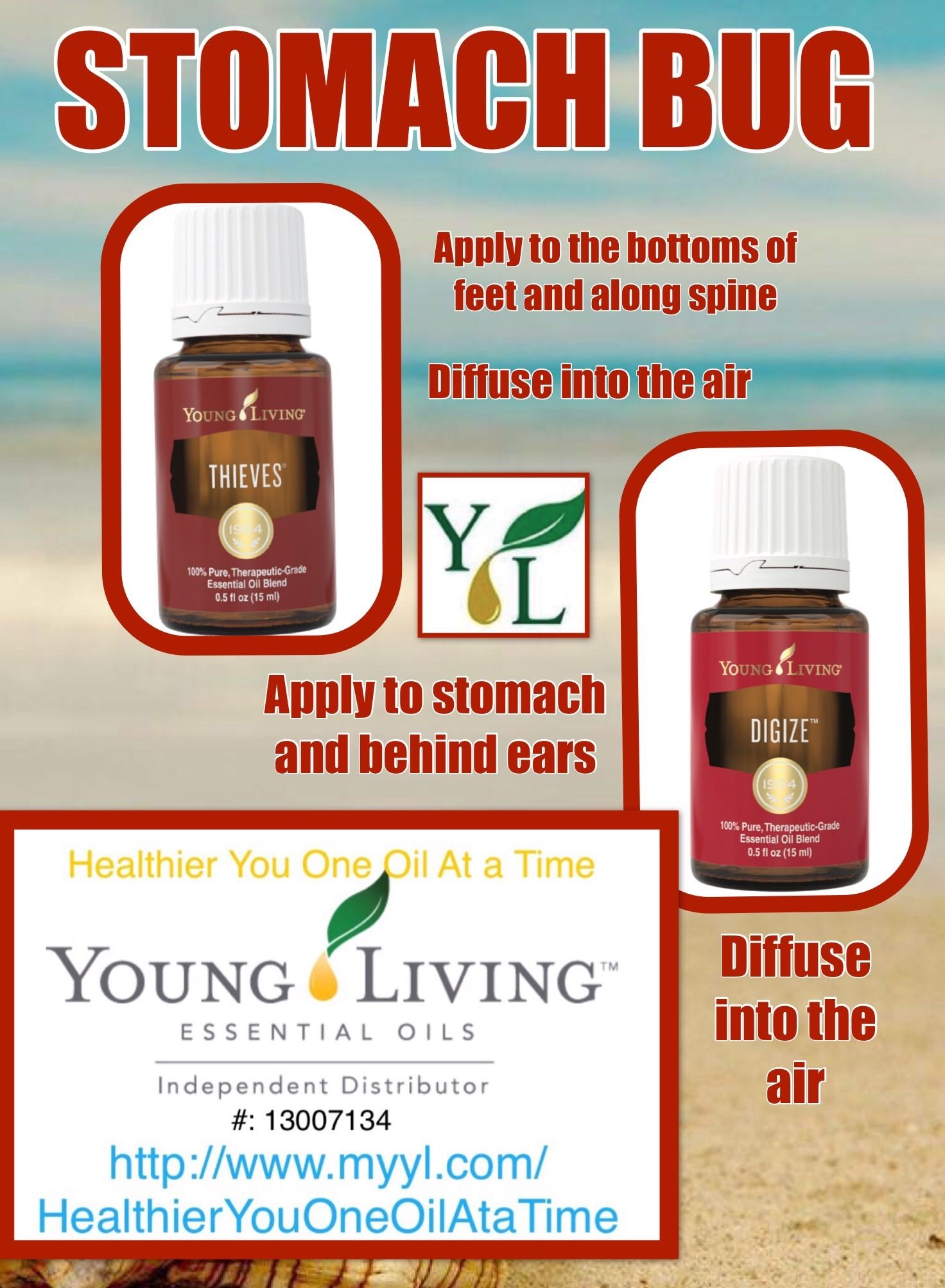 Essential Oils For Stomach Bug Thieves And Digize Diffuse Into The Air Essential Oil For Stomach Bug Essential Oil Diffuser Recipes Young Living Oils Recipes