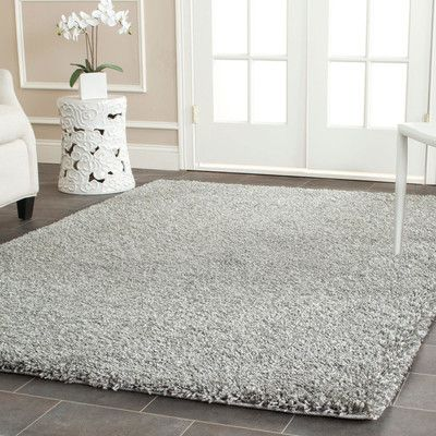 Wade Logan Page Silver Shag Area Rug Products Pinterest Rugs