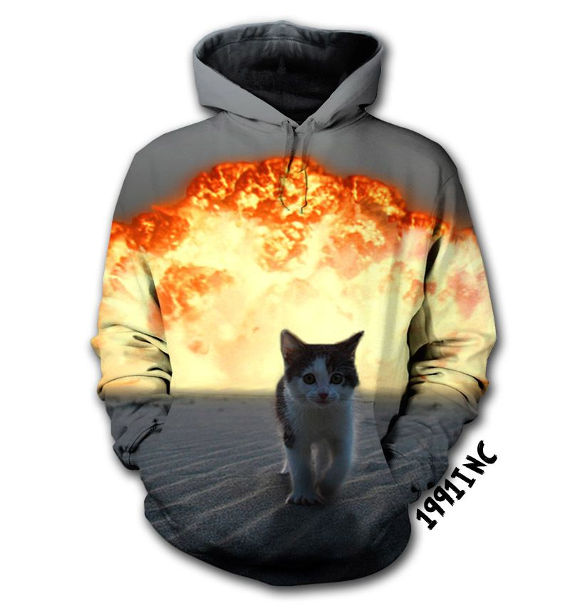 Cat Explosion Hoodie | 1991INC