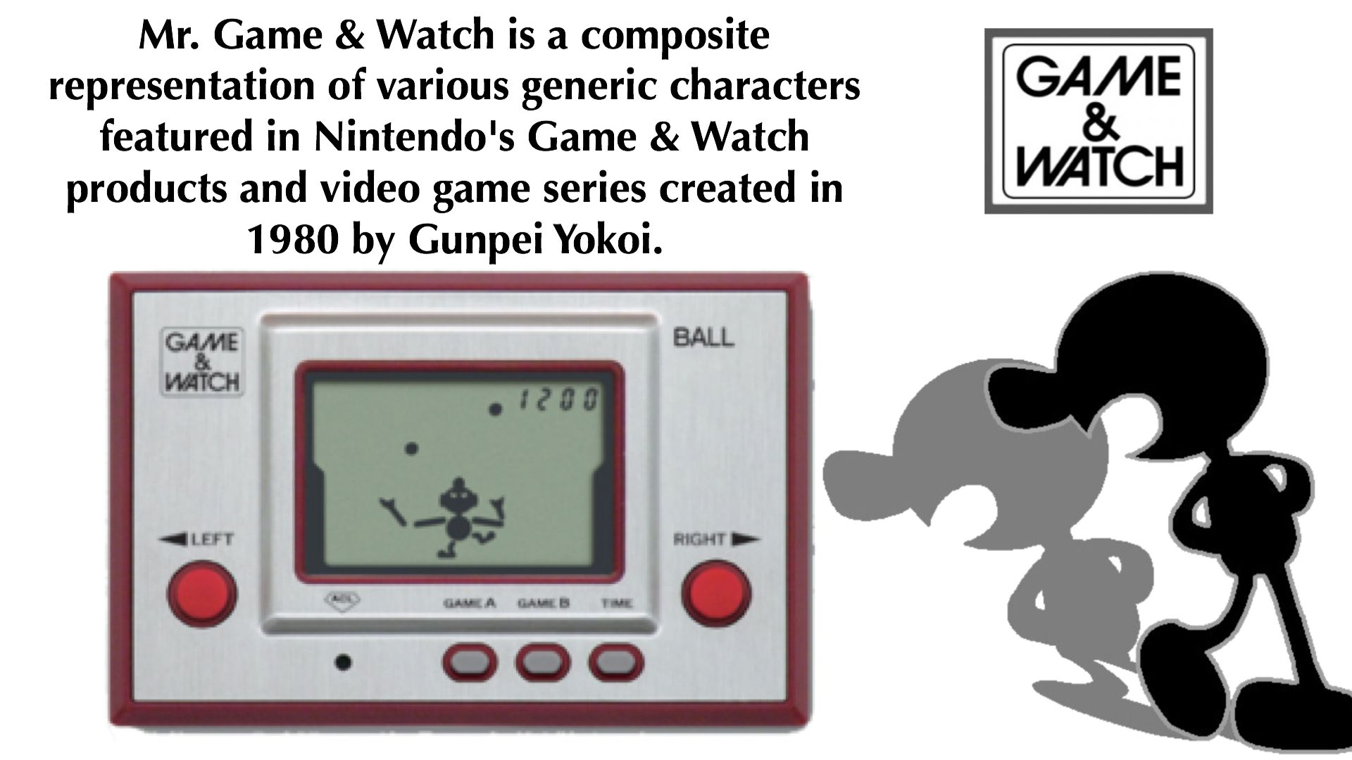 Mr Game Watch Is A Composite Representation Of Various Generic