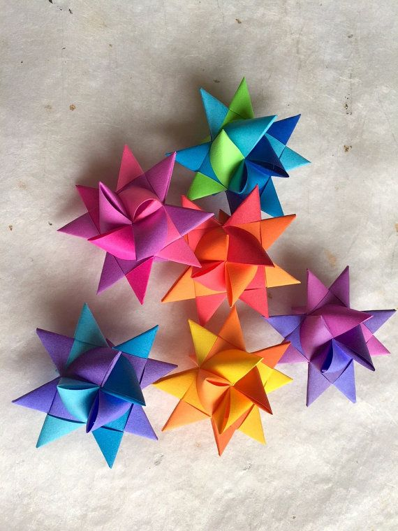 3//4 Paper Strips for German Froebel Moravian Stars /& Weaving ~Shades of Green