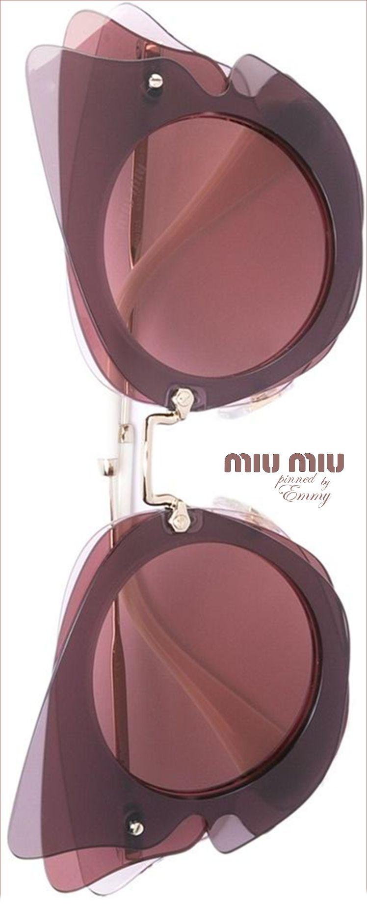 6cd7d9e0ea6451 Miu Miu Eyewear Oversized Sunglasses - Farfetch