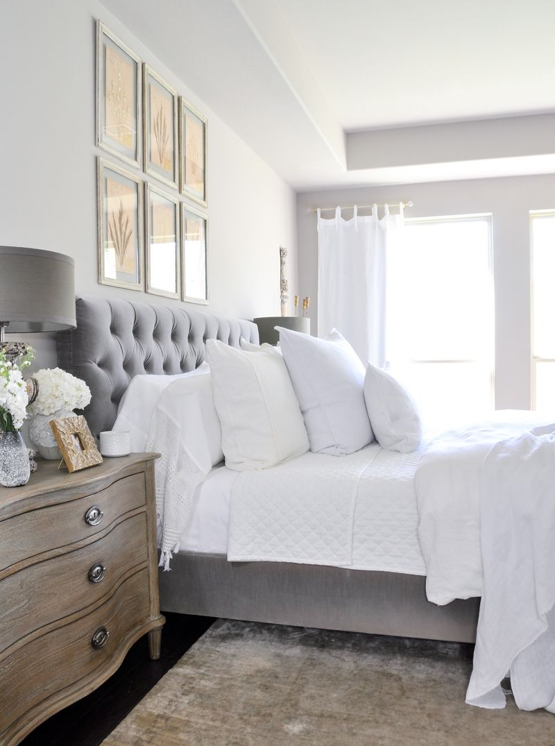 Deco Chambre Maryline Monroe bright white bedroom - styled for spring | deco chambre
