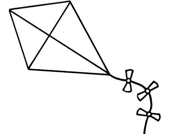 10+ Black And White Kite Clipart