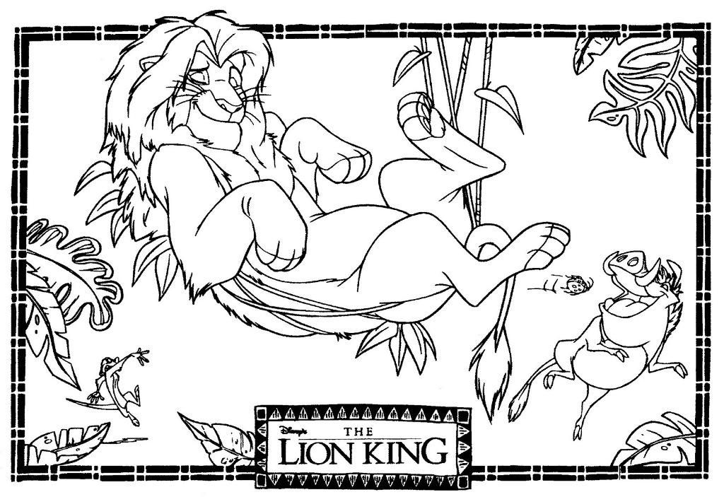 Beautiful Lion King Coloring Pages 25 lion king coloring pages