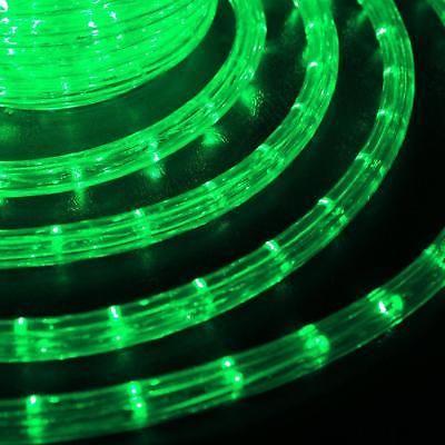 Christmas Led Rope Lights Pre Embled Lighting Outdoor Garden Xmas 50ft Green