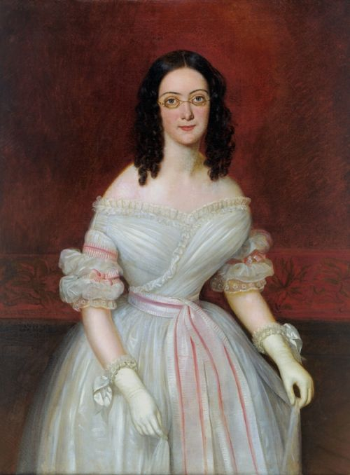 Spectacles In 1835 Victorian Fashion Portrait 19th Century Fashion
