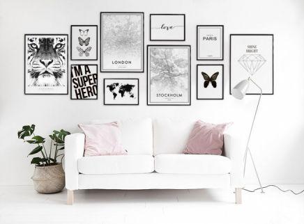 zoek stijlvolle posters om de woonkamer met ons