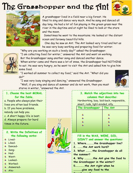 Worksheets Sample Reading Materials For Grade 3 johas donkeys reading comprehension httpmyreadingkids com the grasshopper and ant com