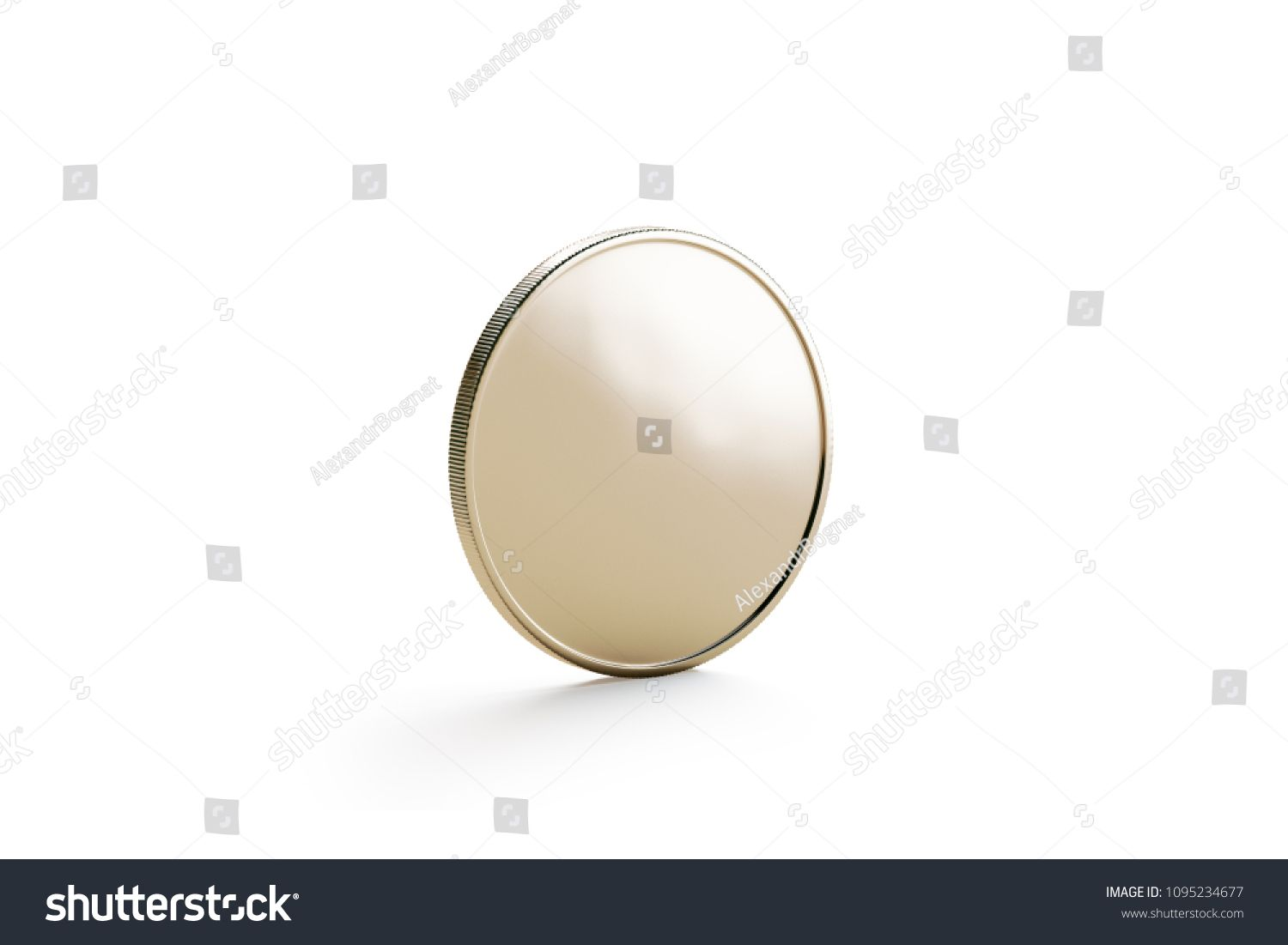 Blank Gold Coin Mock Up Isolated Side View 3d Rendering Empty Golden Iece Of Money Mockup Stand Clear Gold Coins Photography Tutorials Stock Illustration