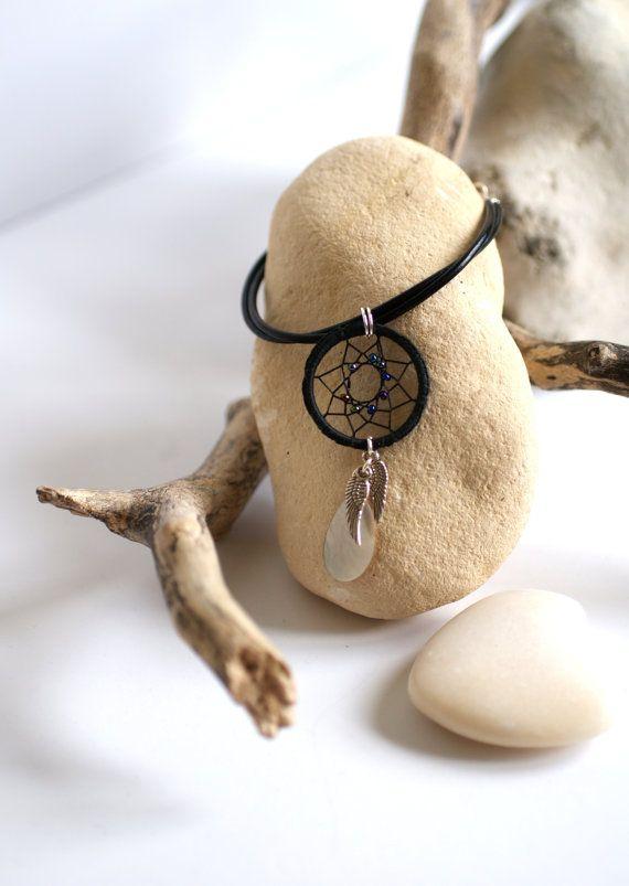 Black Dream catcher bracelet hippie bracelet by Hippyfairy,